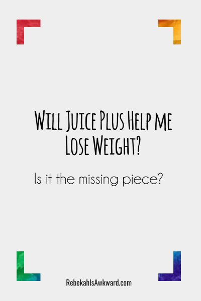 Juice Plus Weight Loss