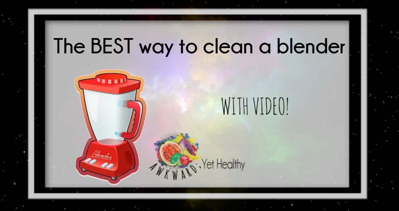 The easiest way to clean a blender- With Video!