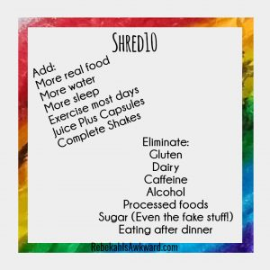 Shred10 is a simple way to improve your health over just 10 days