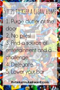 How to keep a clean house with kids