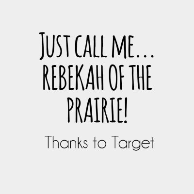 A New Target Dress: Just call me Rebekah of the Prairie